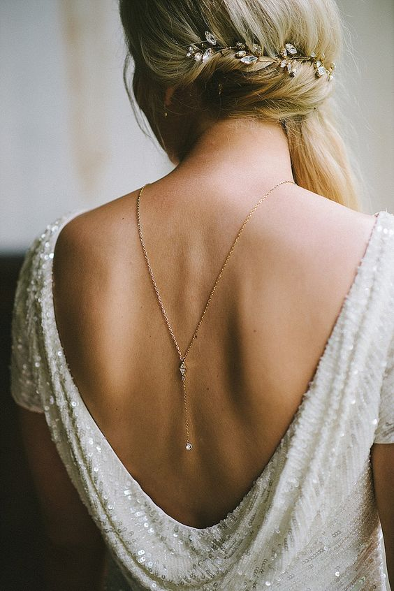 collar espalda novia